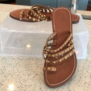 BCBG Sandals - Leather & Gold.